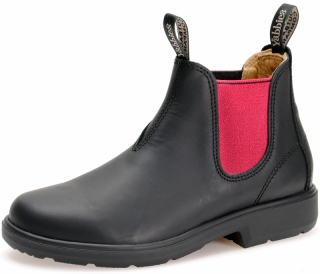 Yabbies Town & Country Chelsea Boots - Black and Pink