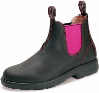 Yabbies Town & Country Chelsea Boots - Dark Brown and Pink